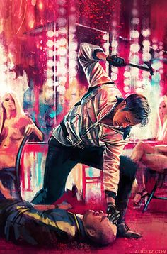Film poster art project by Alice X. Zhang, originally exhibited at Bottleneck Gallery. Drive Movie Poster, Film Poster, Neon Noir, Non Plus Ultra, Kino Film, Alternative Movie Posters, Original Movie Posters, Fan Art, Cultura Pop