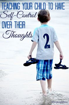 """When our children's thoughts run away with them, here is how we can teach them to develop self-control over their thoughts and """"take their thoughts captive"""" to Christ."""