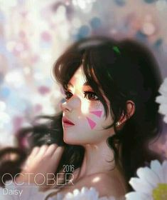 Daisy by Liang-Xing on DeviantArt Art And Illustration, Illustrations, Fantasy Images, Fantasy Art, Divas, Ipad Air Wallpaper, Photoshop, Painting Of Girl, Girl Paintings
