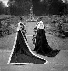 15th Earl and Countess of Pembroke at Wilton Hall, Wiltshire by Cecil Beaton, 1937