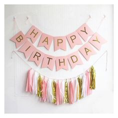 Online Shop Pastel Pink Happy Birthday Banner Garland Hanging Gold Letters Bunting with Tassel Garland Decoration Party Event Birthday Flags, Diy Birthday Banner, Happy Birthday Bunting, Birthday Backdrop, Diy Birthday Decorations, Parties Decorations, Wedding Decorations, Farm Birthday, Birthday Invitations