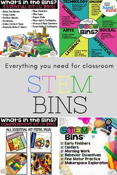 These amazing STEM bins are perfect for grades K-5! They come with everything you need for hands on science experiments for kids - storage containers and labels for easy organization, teacher guide and task cards, and fun materials and supplies for endless activities and challenges. Whether kids are in upper elementary or kindergarten or First or 2nd grade, every student will love learning with these amazing STEM kits!