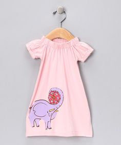 Take a look at this Pink Elephant Flower Organic Dress - Infant by Mini Rotation on #zulily today!