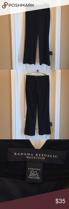 A winter essential black trouser fully lined! Banana republic Harrison fit, 10 LONG, fully lined. Excellent for winter! Straight pockets on front and back. Banana Republic Pants Trousers