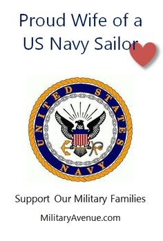 Proud Wife of a US Navy Sailor - created for http://facebook.com/MilitaryAvenue and yours to share