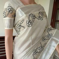 Grab these Cutwork Saree, Cutwork Embroidery, Organza Saree, Embroidery Fashion, Cotton Saree, Lace Saree, White Saree, Indian Bridesmaid Dresses, Indian Gowns Dresses