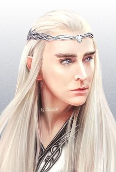 "Thranduil was played by actor Lee Pace in three of the ""Hobbit"" films. This is an excellent rendering by Xiao Xi Gandalf, The Hobbit Thranduil, Lee Pace Thranduil, Tauriel, Hobbit Art, O Hobbit, Lotr, Orlando Bloom Legolas, Elf King"