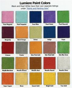 leather paint colors available