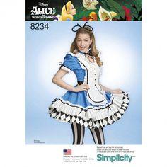 Simplicity Pattern 8234 Women's Alice in Wonderland Cosplay Costume