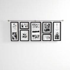 This would work well in a hallway - it looks like you could easily change the pictures out over time, if you wanted.