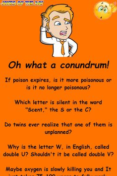 Oh what a conundrum! A Funny, Funny Jokes, Funny Sayings, Mother Feeding, Lethal Injection, Double U, Longest Word, Diy Bookmarks, Clean Jokes