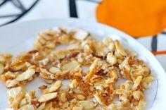 Mein einfacher Mandel-Kokos-Krokant #fructosefrei, #glutenfrei - der perfekte Snack bei #Fructoseintoleranz / sweet almond-coconut-crisp #sugarfree, #glutenfree