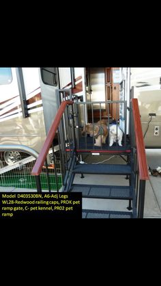 Portable RV landing with stairs & puppy ramp!