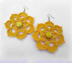 Flores Amarelas - rígido, sólido, de fibra, crochê, tricô, têxtil, grande