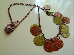 Plieškový bodkovaný náhrdelník by Martinuska - SAShE.sk - Handmade Náhrdelníky