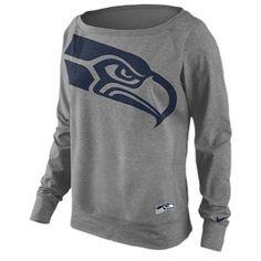 NFL Seattle Seahawks Womens Linen Field Shirt Small