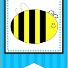 Create your own custom classroom banner with this complete banner kit! It features a black, blue and yellow, striped bumblebee theme. These are all...