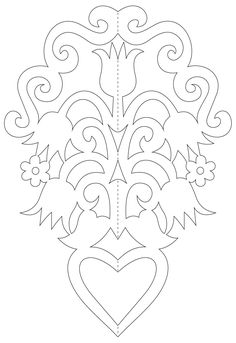 Paper ornaments with flowers templates) Chinese Paper Cutting, Paper Ornaments, Paper Crafts Origami, Easy Christmas Crafts, Scroll Saw Patterns, Flower Template, Paper Flowers Diy, Skull Design, Stencil Painting