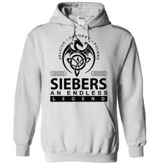SIEBERS an endless legend - #gift for him #gift tags. GET  => https://www.sunfrog.com/Names/siebers-White-Hoodie.html?id=60505