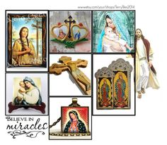 """Religious Art on Etsy by TerryTiles2014 - Volume 35"" by terrytiles2014 ❤ liked on Polyvore featuring interior, interiors, interior design, home, home decor and interior decorating"