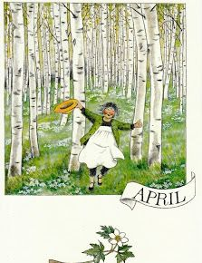 Serie of 12 postcards by Swedish illustrator Lena Anderson, featuring the main character Linnea. Vintage Illustration, Elsa Beskow, All Nature, April Showers, Months In A Year, 12 Months, Illustrations And Posters, Spring Time, Childrens Books