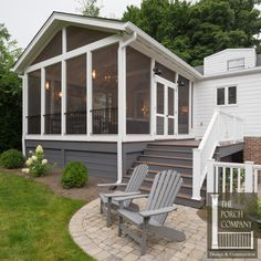 Screened Porch and Garage Oasis - The Porch CompanyThe Porch Company