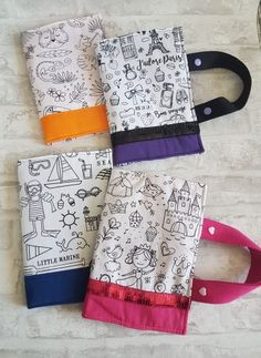 TROUSSES À COLORIER Apron, Creations, Couture, Art Crafts, Owls, Purse, Pinafore Dress, High Fashion, Aprons