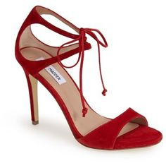 Steve Madden 'Semona' Suede Ankle Strap Sandal #red #shoes