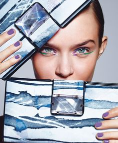 visual optimism; fashion editorials, shows, campaigns & more!: art inspired: josephine skriver by richard burbridge for harper's bazaar febr...