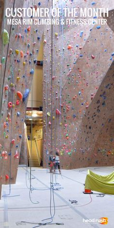 Mesa Rim Climbing & Fitness Center is our December 2014 Customer of the Month! Learn why! #ClimbingGym #AutoBelay