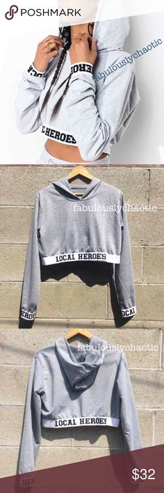 Local Heroes Cropped Lightweight Hoodie Brand new without tags! Never been worn before! Retails for $70 on Local Heroes! Size Small (I also have a Medium available). Perfect for fall and winter! Local Heroes Sweaters