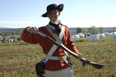 reenactor of the American Revolution at Saratoga, New York on October of 2007