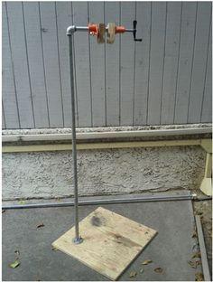 DIY Bicycle Repair Stand by Andrew Li