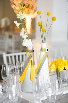 Loving the simple flowers out of the vases