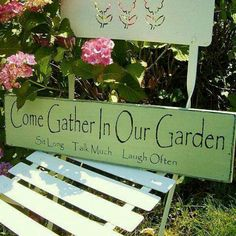 I hacw this sign in my garden!