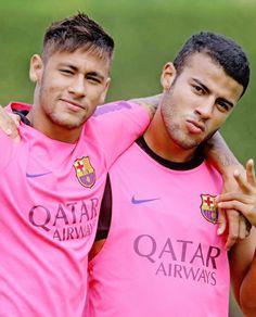 Neymar and Rafinha #footballislife