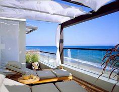 Malibu California Beach House  Terrace