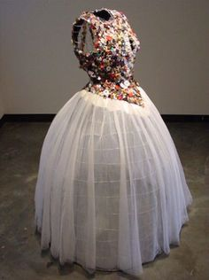 """This dress, titled """"Mother of Pearl"""" by York artist"""