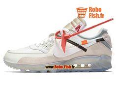 Officiel Off-White X Nike Air Max 90 Blanc/Noir AA7293-100 Chaussure Sportswear Prix