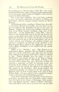 History of the Granville Family p. Digital Image, History, Historia