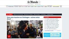 El Periódico.La prensa internacional se vuelca con el referéndum de Catalunya Pixel, October, Politics