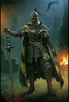 a collection of inspiration for settings, npcs, and pcs for my sci-fi and fantasy rpg games. Death Knight, Knight Armor, Undead Knight, Fantasy Armor, Medieval Fantasy, Dnd Characters, Fantasy Characters, Character Portraits, Character Art