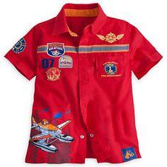 Planes: Fire & Rescue Woven Top for Boys Kids Wear Boys, Disney Planes, Disney Merchandise, Boys Shirts, Casual Shirts, Kids Outfits, Shirt Designs, Men Casual, Fire