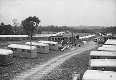 Peter Sekaer - Trailers for defense workers at Vultee Aircraft Plant. Nashville, Tennessee (1941)