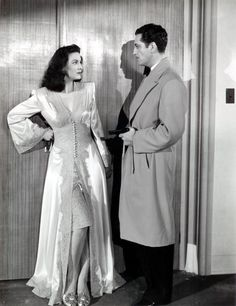 Maria Felix and Luis Aldas in La Devoradora directed by Fernando de Fuentes, 1946