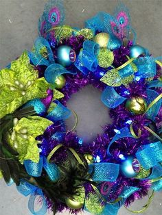 christmas wreaths part 2, crafts, seasonal holiday decor, wreaths, Peacock