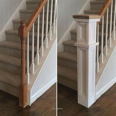 Create a Classic Staircase Newel Post home renovation Staircase Remodel, Staircase Makeover, Style Deco, Diy Home Improvement, My New Room, Home Projects, Home Remodeling, Kitchen Renovations, Kitchen Remodel