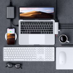 Enjoy an extended wireless keyboard with full numeric keypad, perfect for data entry, finance applications or accounting tasks. With responsive scissor-switch keys, the keyboard captures every keypress for fast and precise typing. Pc Setup, Office Setup, Desk Setup, Macbook Pro Accessories, Apple Service, Computer Setup, Bluetooth Keyboard, Computer Keyboard, Technology Gadgets