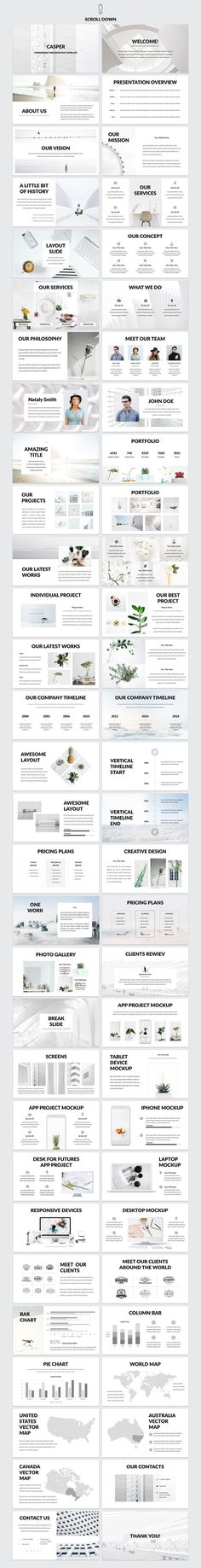 Casper - Powerpoint Template by Helga_Design on @creativemarket