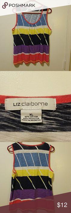 SALE....Liz Claiborne Sleeveless Tank Size XL,  great condition. Liz Claiborne Tops Tank Tops